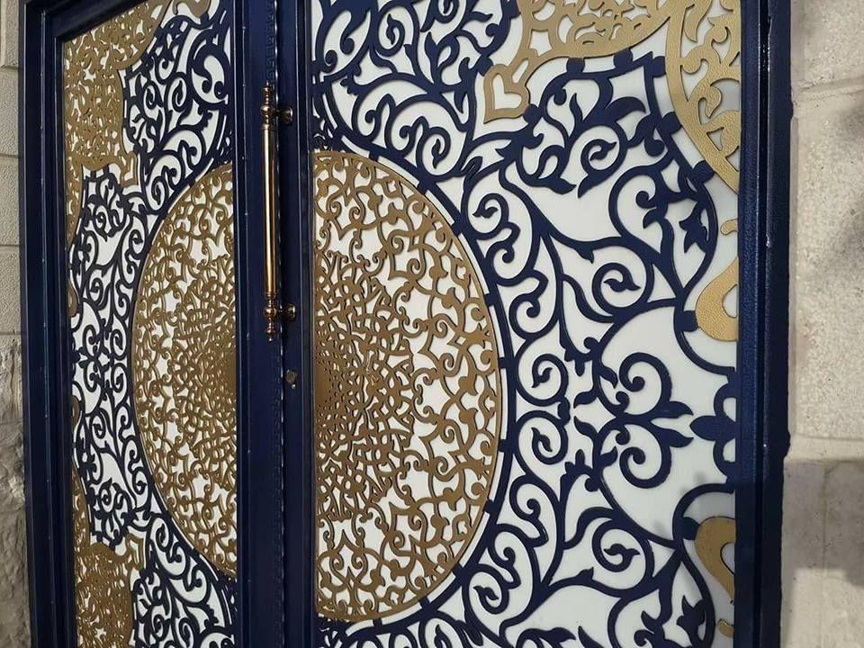 Door تنفيذ ابواب الحديد عادي زخرفه و ليزر الرياض 0530608113 Decor Home Decor Dxf