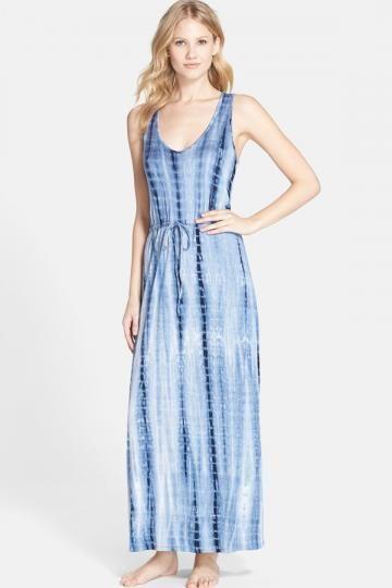 'Tie Dye Line' Maxi Dress