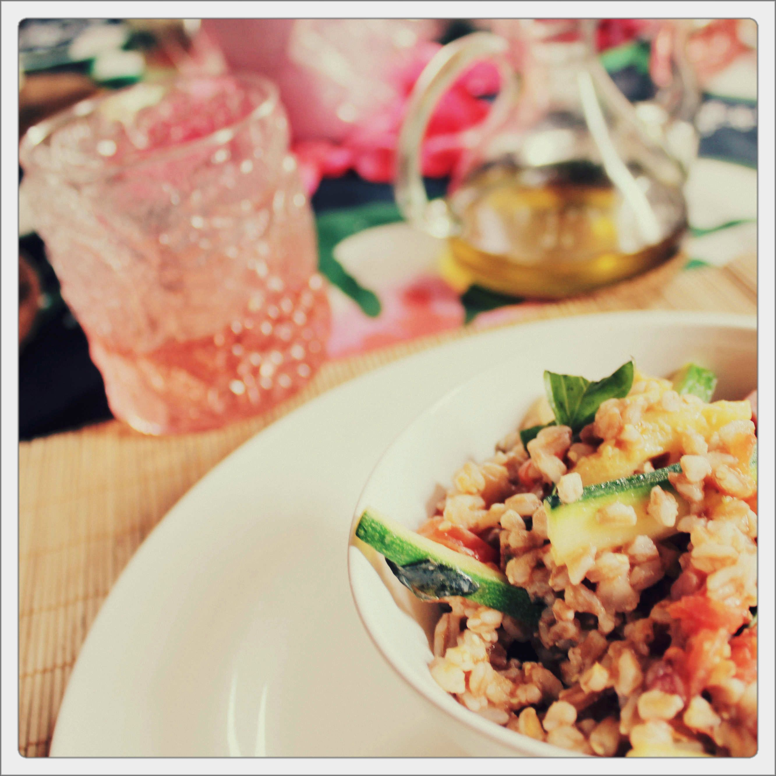today's lunch: farro salad