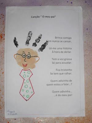 Poema Para Fazer Para o Papai Com a Impressão da Mão - Blog Cantinho Alternativo