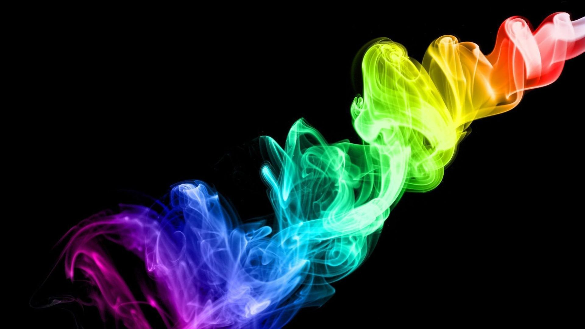 Colorful 3D Abstract Smoke wallpaper