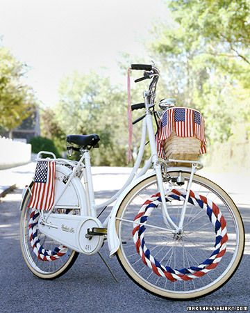This bike reminds me of how we decorated our bikes for the 4th of July parade as a kid in Quaker City.