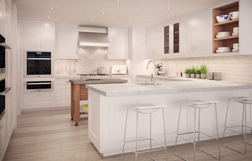 33 Gorgeous Kitchen Peninsula Ideas Pictures White Modern