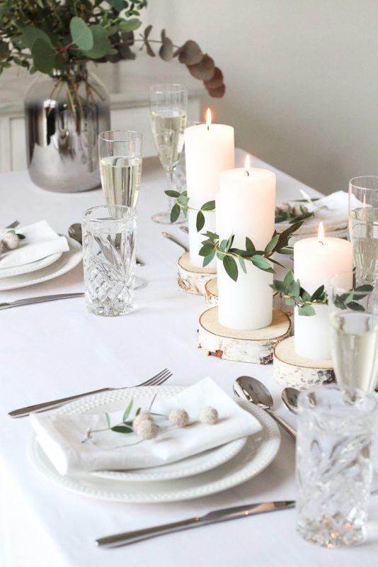 Minimalistische & Festliche Tischdekoration zum Weihnachtsfest » Puppenzirkus #ferientisch
