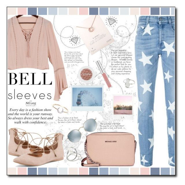 """""""Street Style Trend: Bell Sleeves"""" by ana-a-m ❤ liked on Polyvore featuring STELLA McCARTNEY, Dogeared, Michael Kors, Polaroid, Ray-Ban, I+I, TAKK and bellsleeves"""