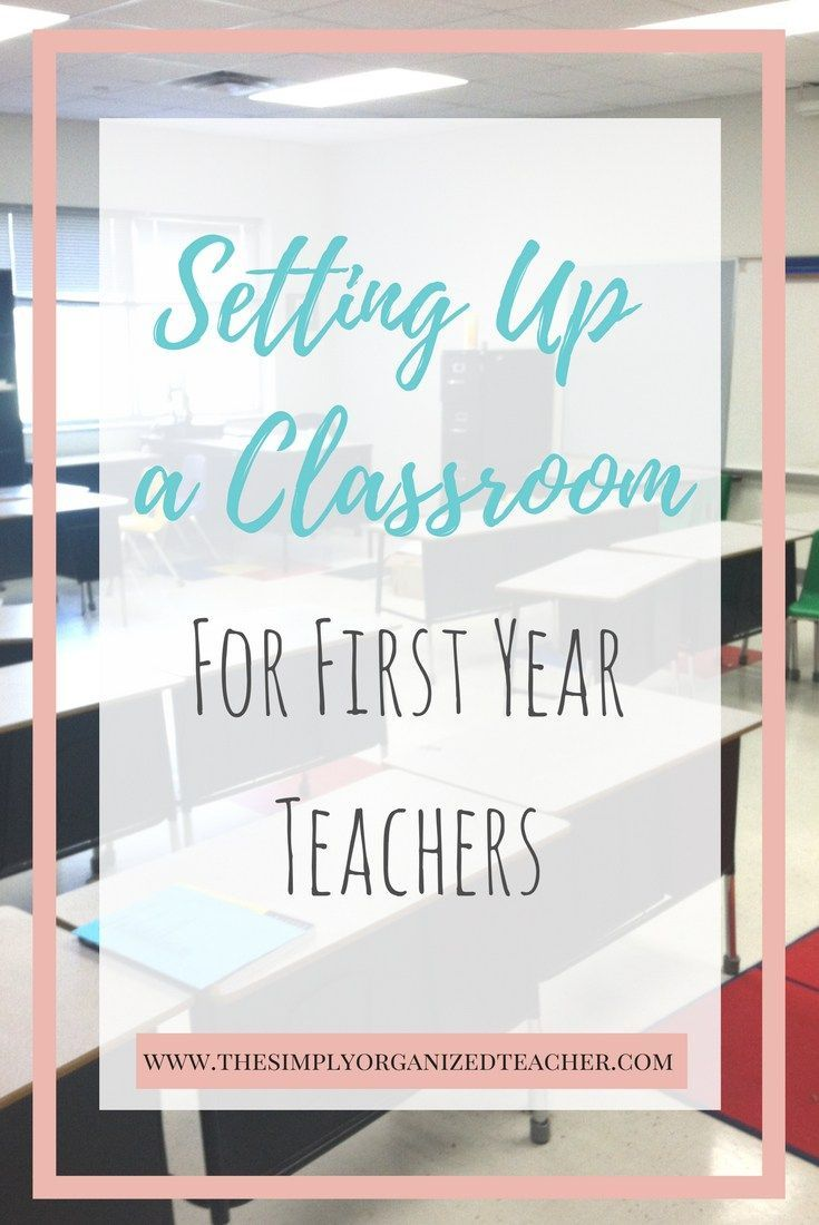 First Year Teacher: Setting Up a Classroom · - First Year Teacher: Setting Up a Classroom -