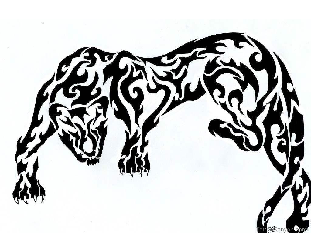 Black Panther Tribal Tattoo Designs