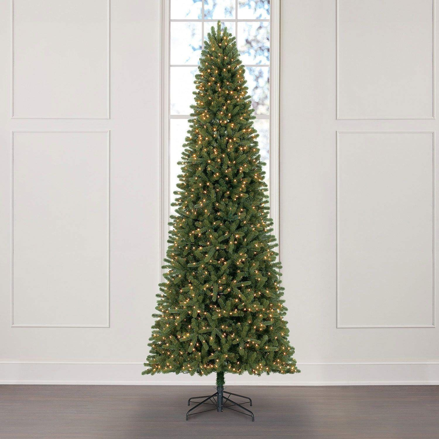 Everstar Prelit Led Artificial 12 Slim Fir Christmas Tree 1100 Warm White Lights 2930 Tips Check This Awesome Product By Goin Christmas Tree Fir Christmas Tree 12 Ft Christmas Tree Christmas Tree