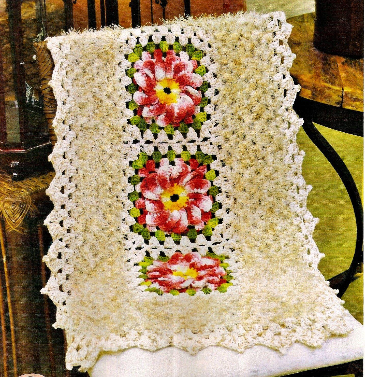 Tapete Croche Quadrado Square Flores Blog Croche Com Receita
