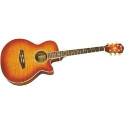 Ibanez Aeg20e Flamed Sycamore Top Acoustic Electric Guitar Acoustic Electric Guitar Guitar Acoustic Electric