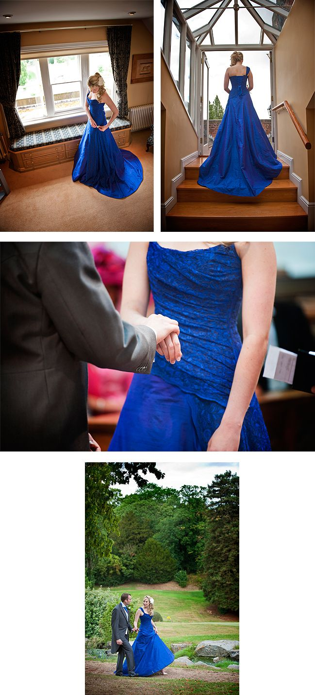 Bespoke electric blue wedding gown for charlotte love this in red