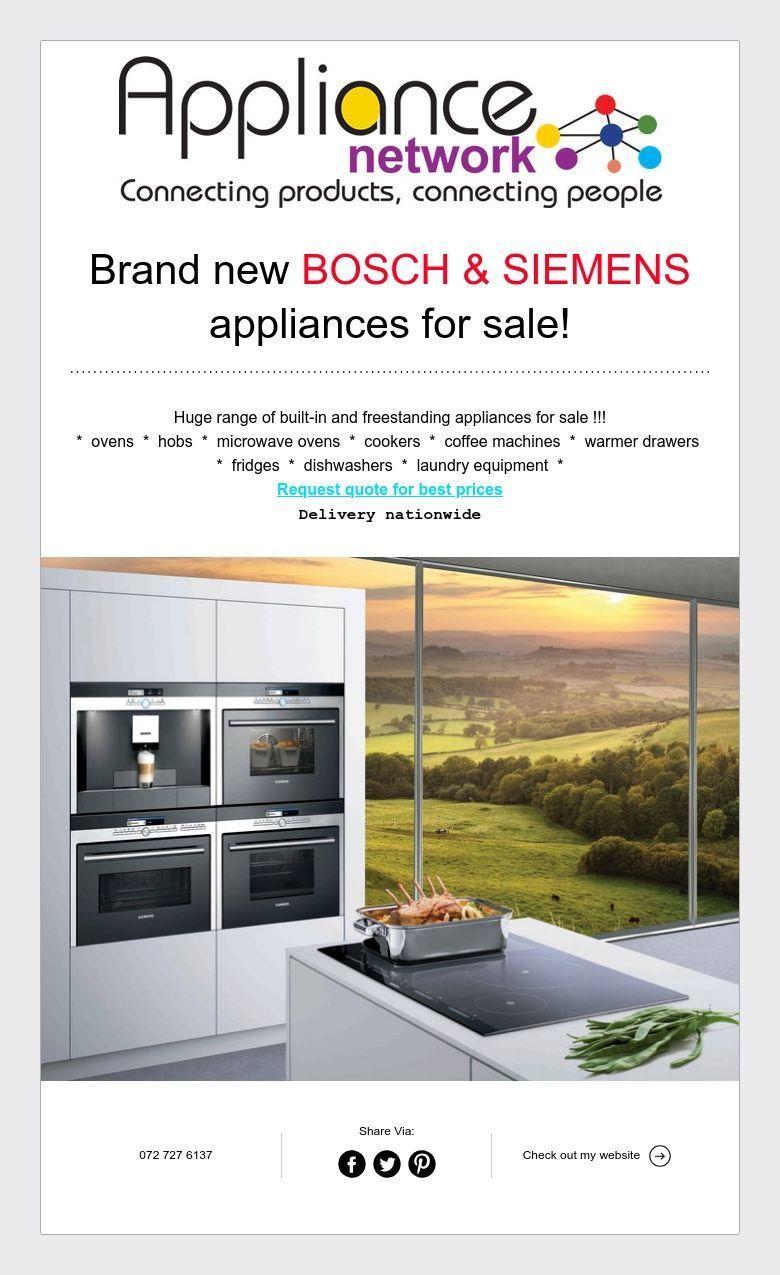 Brand New Bosch Siemens Appliances For Sale Siemens Appliances Appliance Sale Laundry Equipment