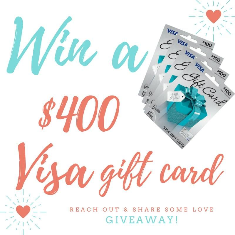 Enter to win a 400 Visa giftcard! Simple to enter