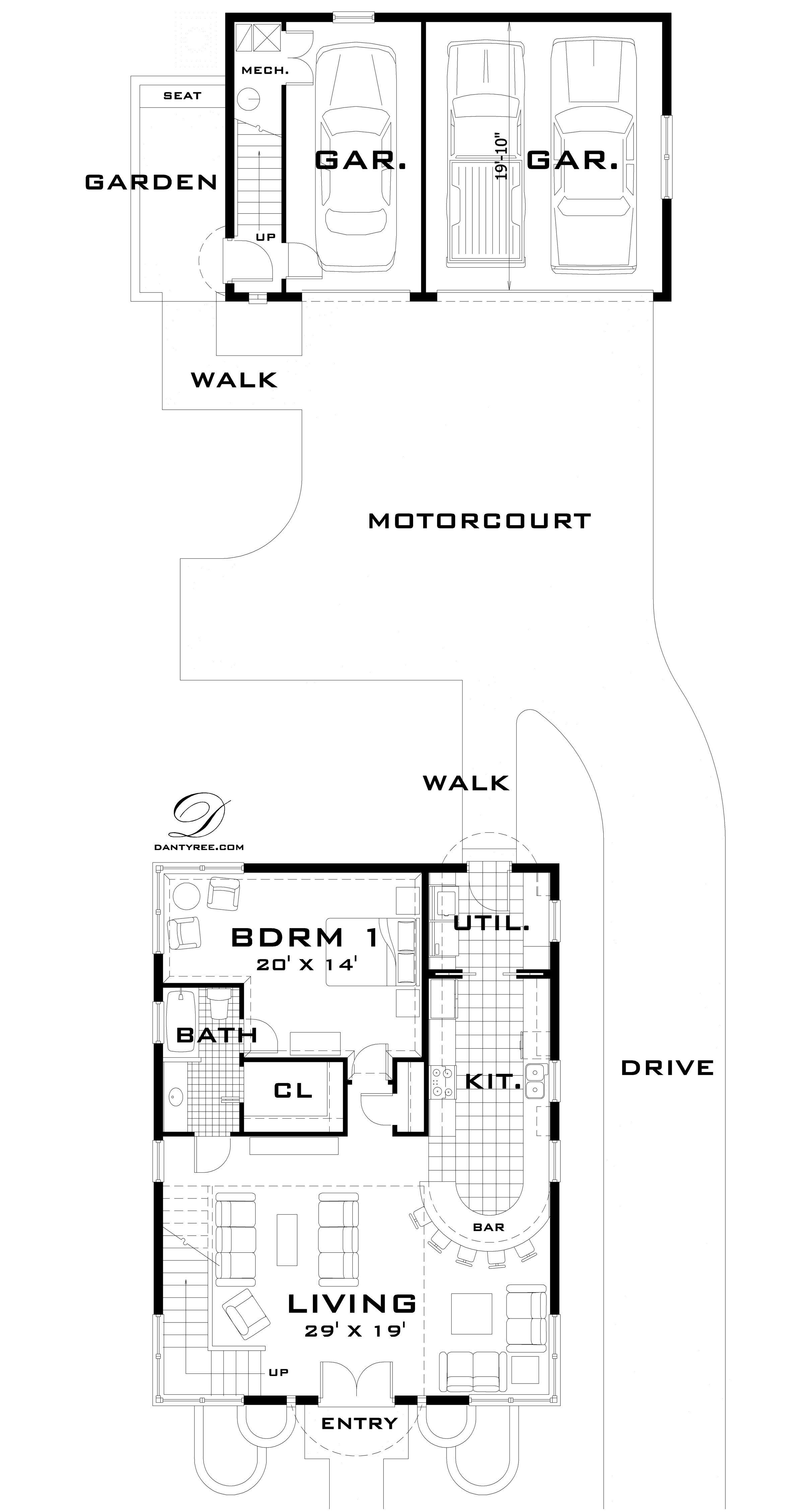 DanTyree.com | Modern House Plans, Unique House Plans, Castle House ...