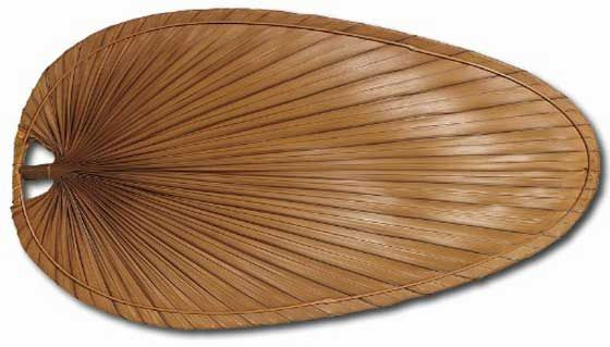Fanimation ISP4RB Ceiling Fan Natural Brown Palm Leaf Fan Blade Covers
