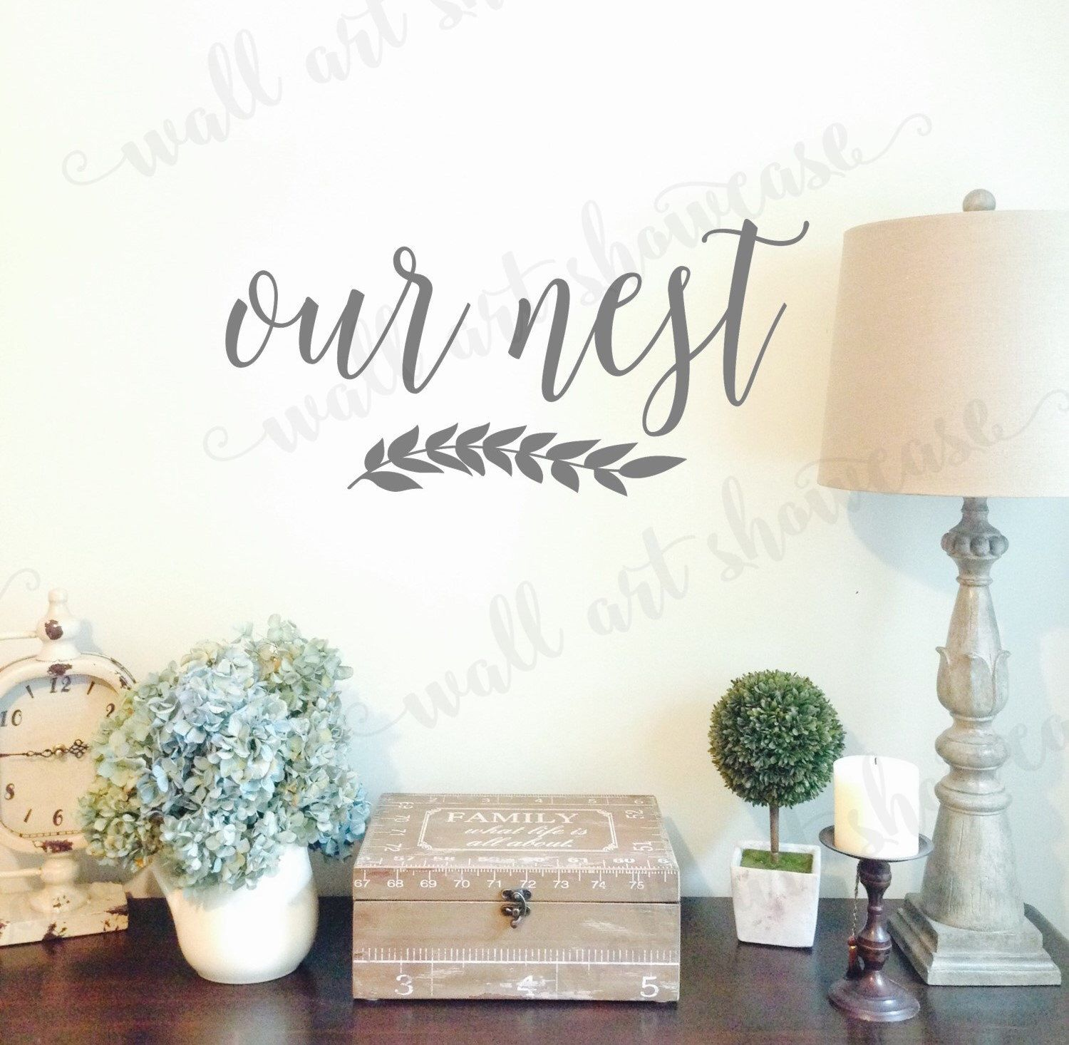Our Nest Vinyl Wall Decal Sign Bless Home Decor