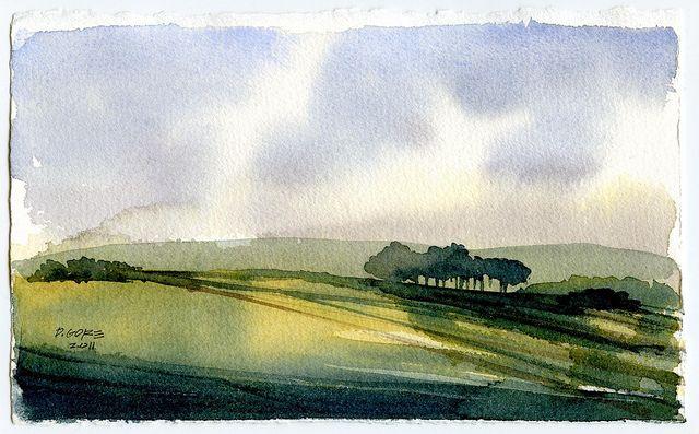 Landscape Sketch In 2020 Landscape Sketch Watercolor Landscape