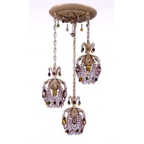 multi light pendant lighting. Schonbek 1257 Rondelle Three Light Down Lighting Colored Crystal Multi Pendant