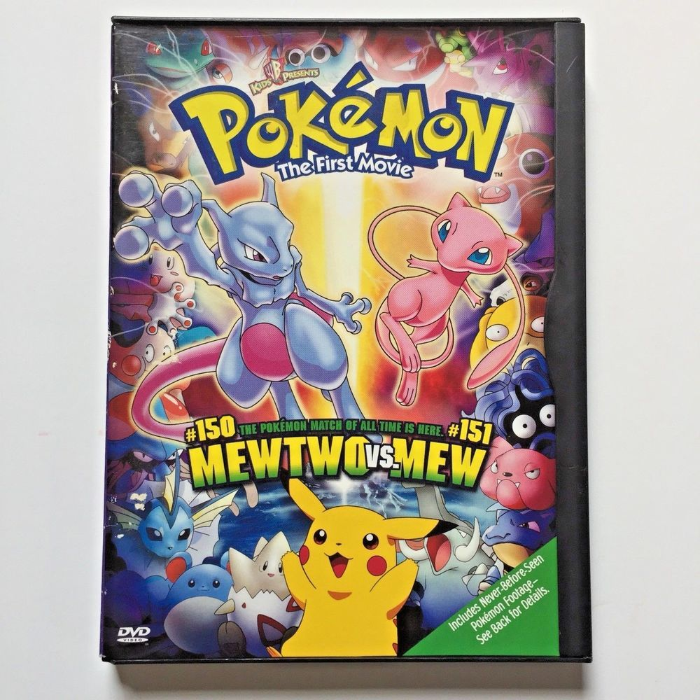 Pokemon The First Movie Mewtwo Vs Mew 1999 Tested Dvds