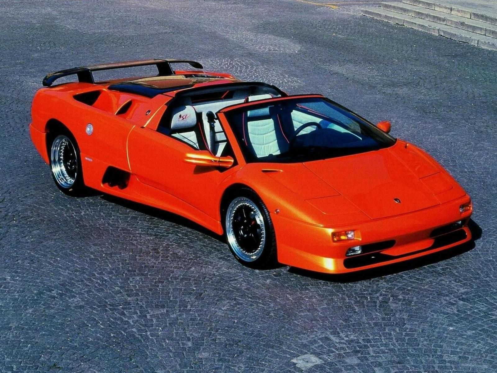Lamborghini Diablo This Diablo In Orange Was The Devil Of The Road