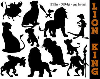 The Lion Silhouettes // Nala, Simba, Mufasa, Timon, Pumbaa & More ...