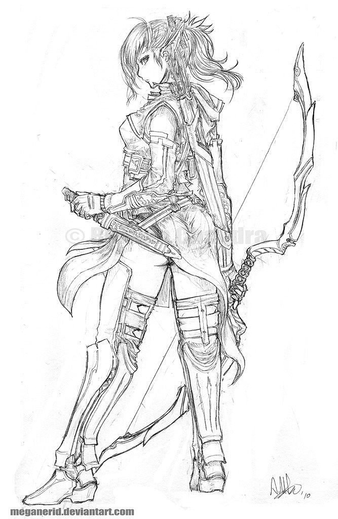 Elven Ranger Aniera Character Drawing Character Art Fantasy Character Design