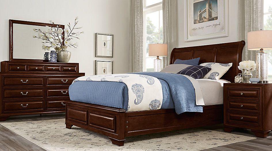 Best Mill Valley Ii Cherry 5 Pc King Sleigh Bedroom King 640 x 480