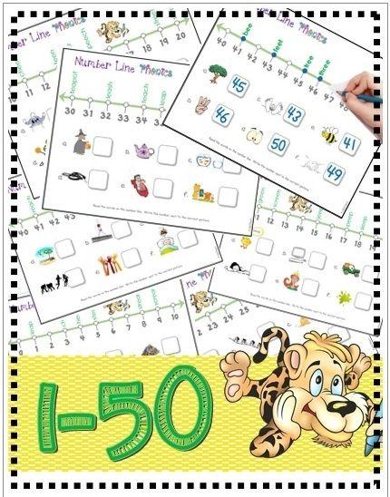 Number Line Math  Phonics Vowel Digraphs #1-50 (ee/ea) LEVEL 3A
