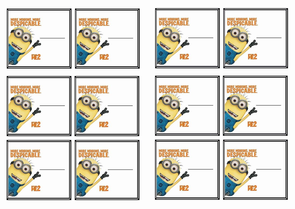 free printable despicable me themed name tags värityskuvat