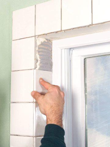 Tiling A Window Recess Kitchen Window Sill Window In Shower Tile Bathroom