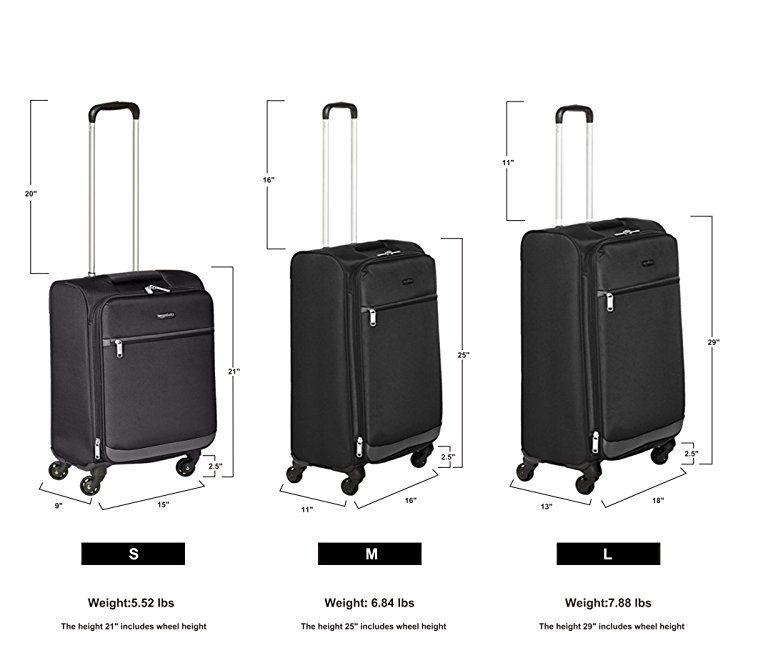 f7002866f30c Amazon.com: AmazonBasics Softside Spinner Luggage, 25-inch, Black ...
