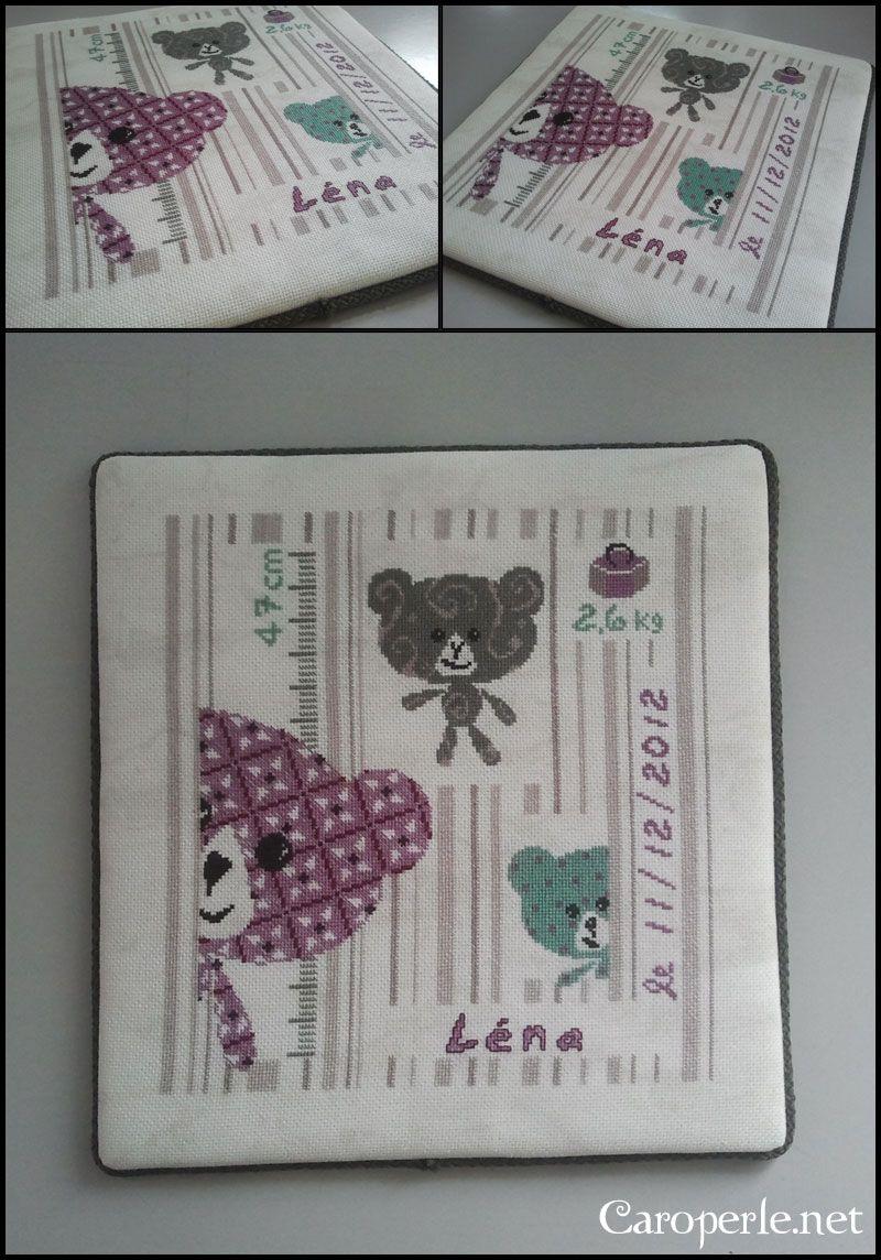 Tableau de naissance - LiliPoint | Lilipoints, Point de croix, Point de croix bébé