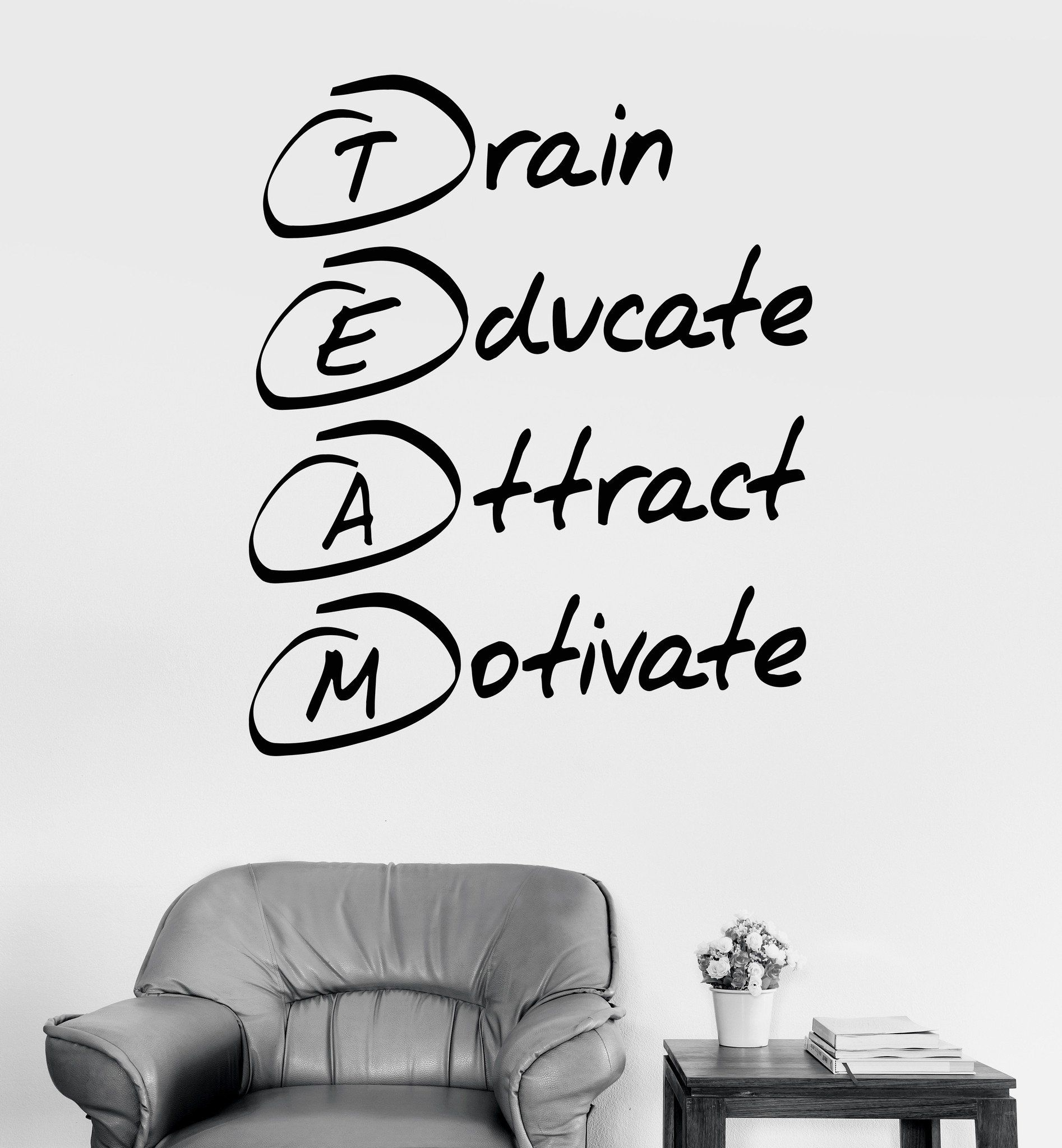 Vinyl Wall Decal Office Motivation Quote Team Stickers