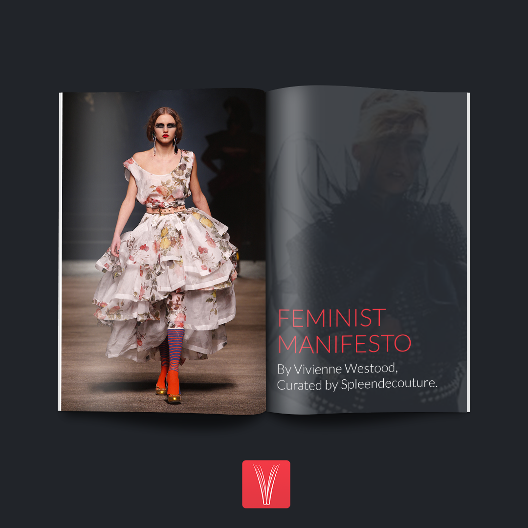 """""""FEMINIST MANIFESTO."""" Fashion by Vivienne Westwood. #Curation by Spleen De Couture. #Fashion #Couture #Lifestyle #Black"""
