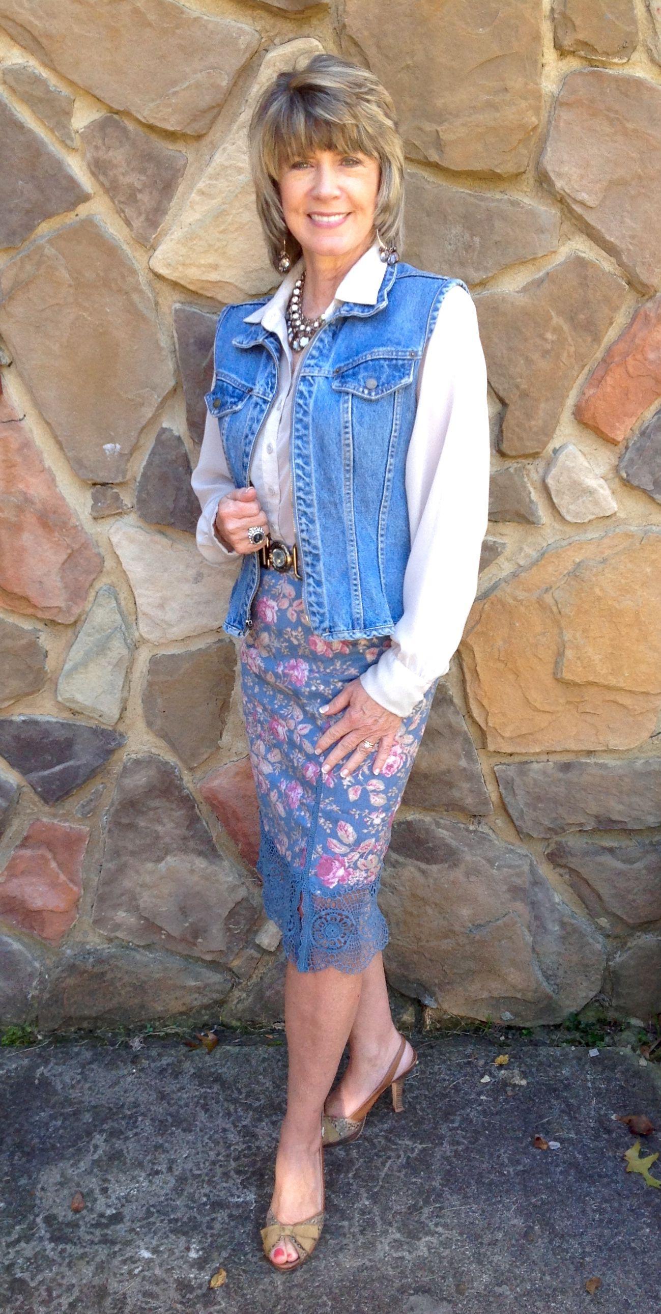 39f826cb4 Dressy Denim. Skirt: Free People. (Had to sew up the 6
