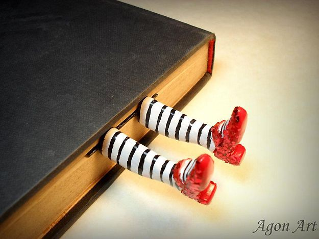 """Such an awesome bookmark. """"Wicked witch in the book"""""""