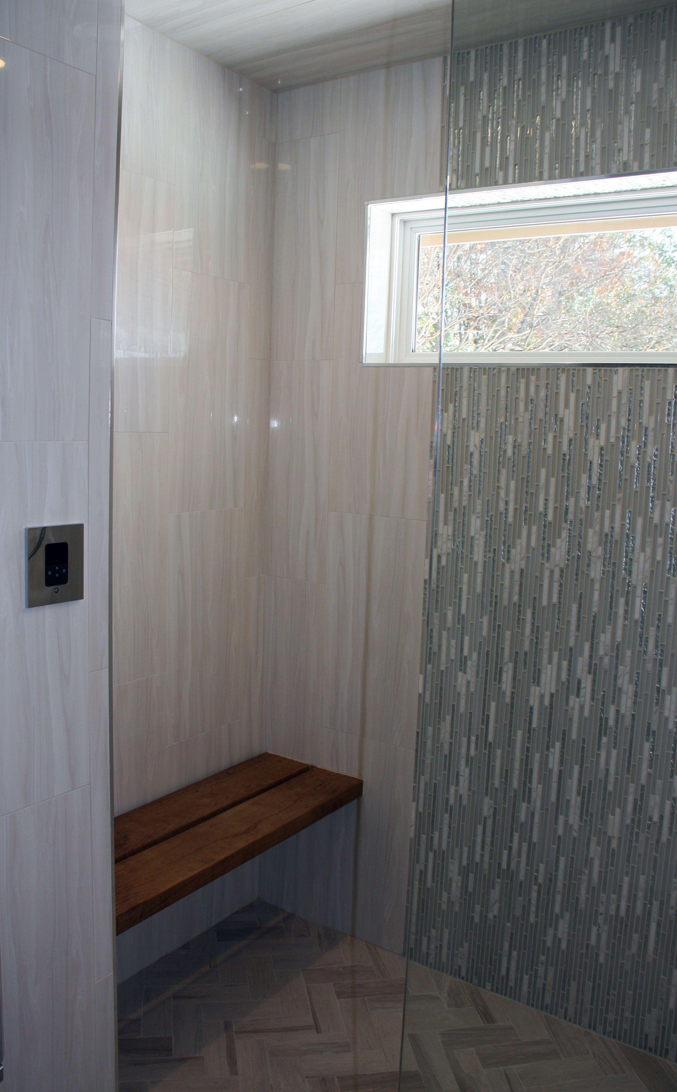 Master Steam Shower With Built In Teak Bench Bathroom Ideas