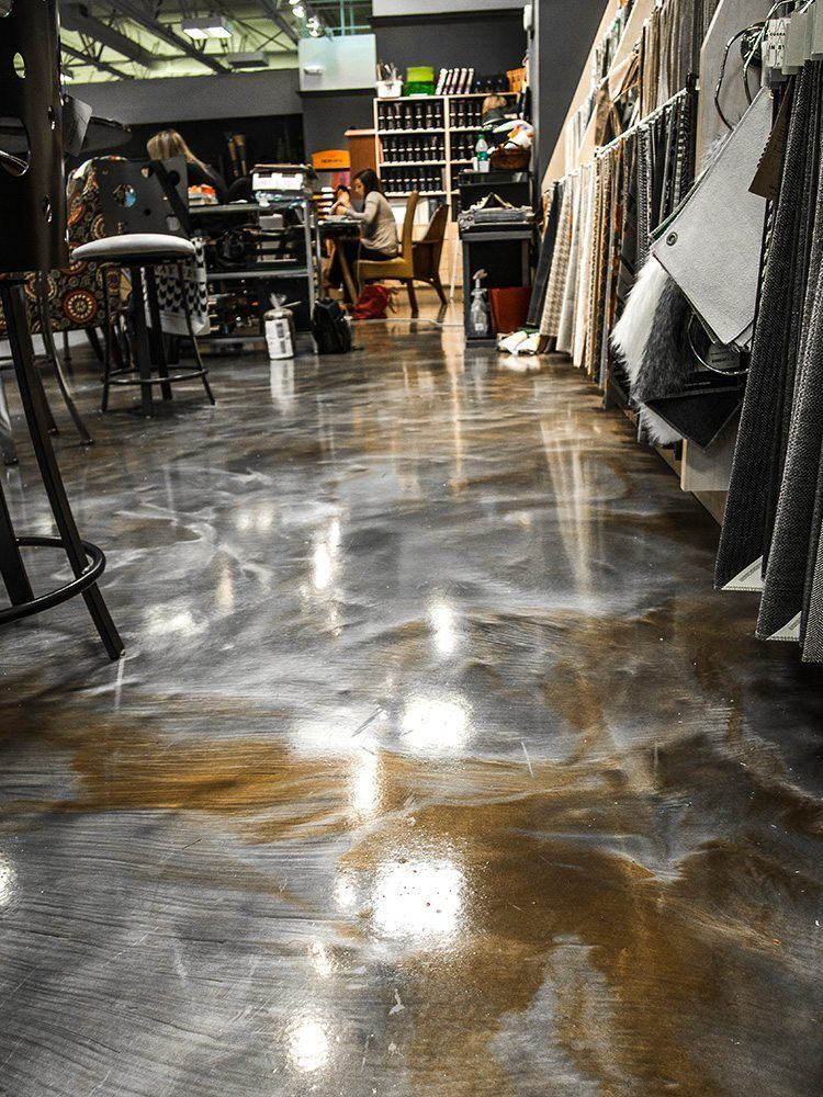 epoxy flooring green | not only are metallic epoxy floors