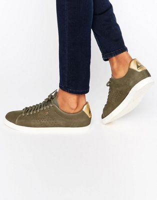 the best attitude 77490 1c881 Le Coq Sportif Exclusive To ASOS Charline Sneakers In Khaki Nubuck Leather