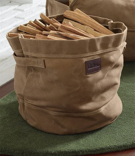 Lovely Waxed Canvas Storage Tote