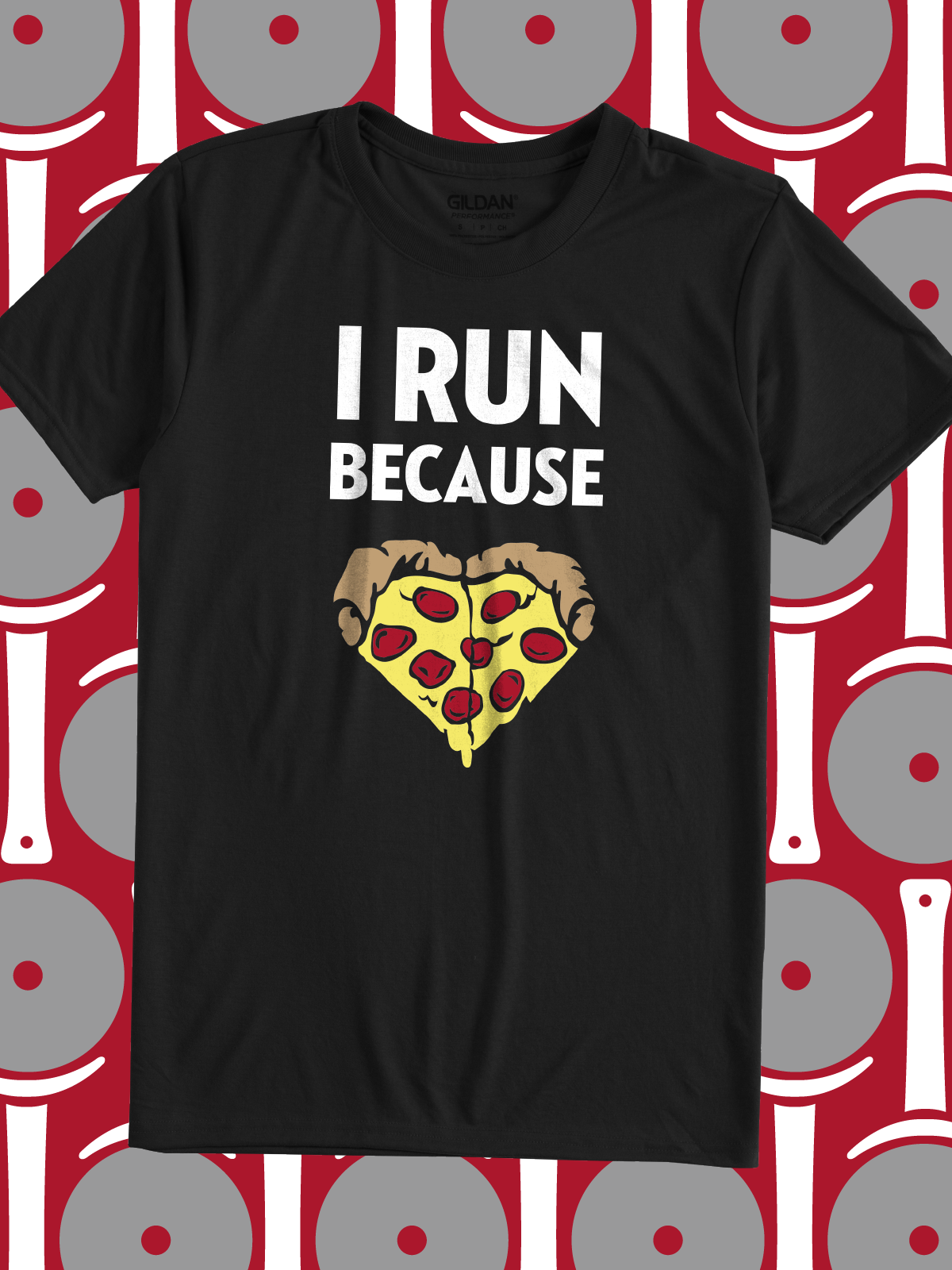 I Run Because Pizza Is The Perfect Funny Quote For Your 5k Run Team