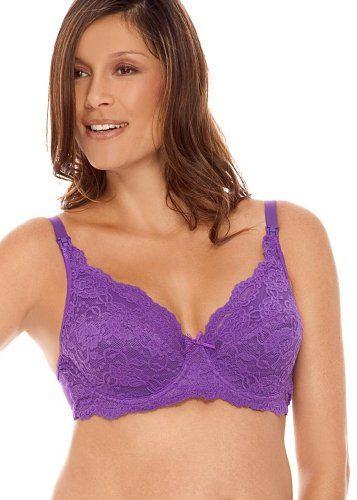 0ce297891e1 Lamaze Lace Full Coverage Underwire Nursing Bra – Purple