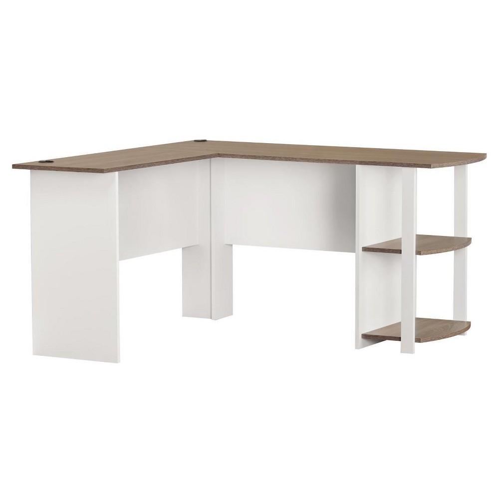 Fieldstone L Shaped Desk With Bookshelves White Room Joy Bookshelf Desk Home Office Furniture L Shaped Desk