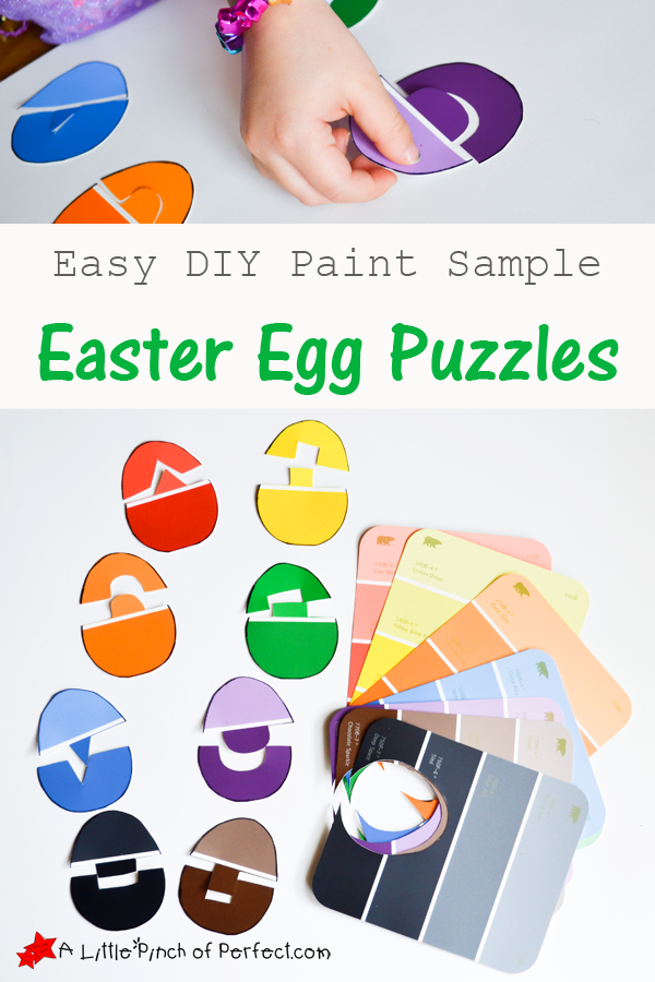 Easy DIY Easter Egg Puzzles with Paint Samples -