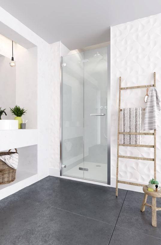 Oro Frameless Bifold Shower Door Innovative 360 Degree Hinge