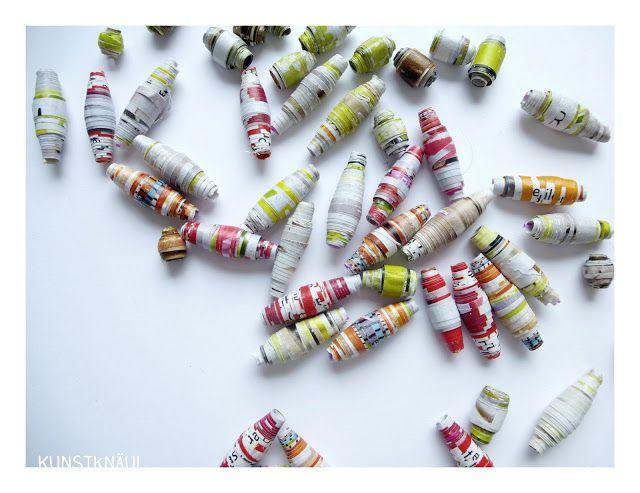 Kunstknäul: Perlen aus Papier /// Paper Beads