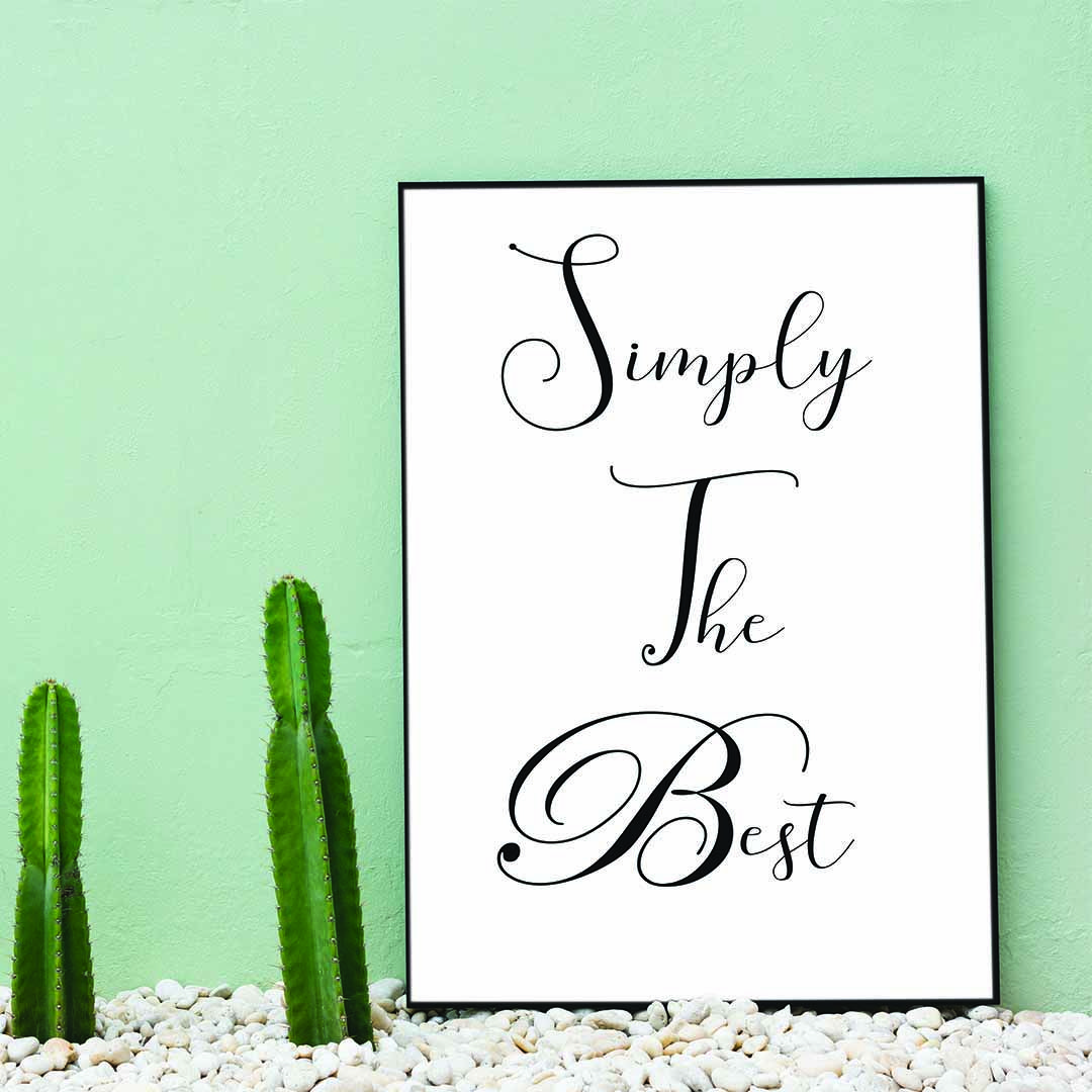 Simply The Best Because You Deserve It Veteran Quotes Printable Wall Art Wall Art