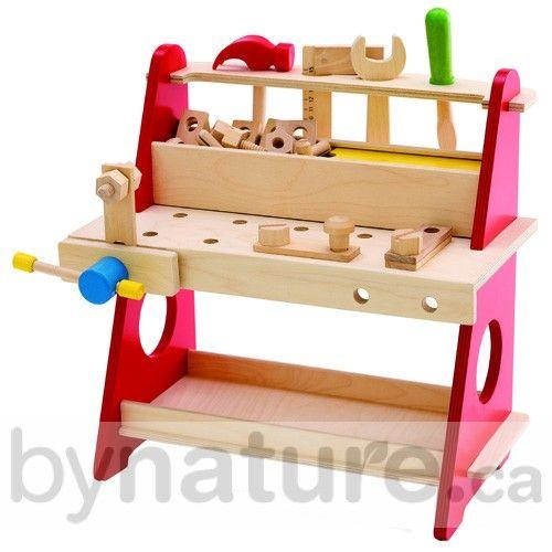 wooden toy kids tool bench christmas present ideas pinterest kinderspielzeug. Black Bedroom Furniture Sets. Home Design Ideas