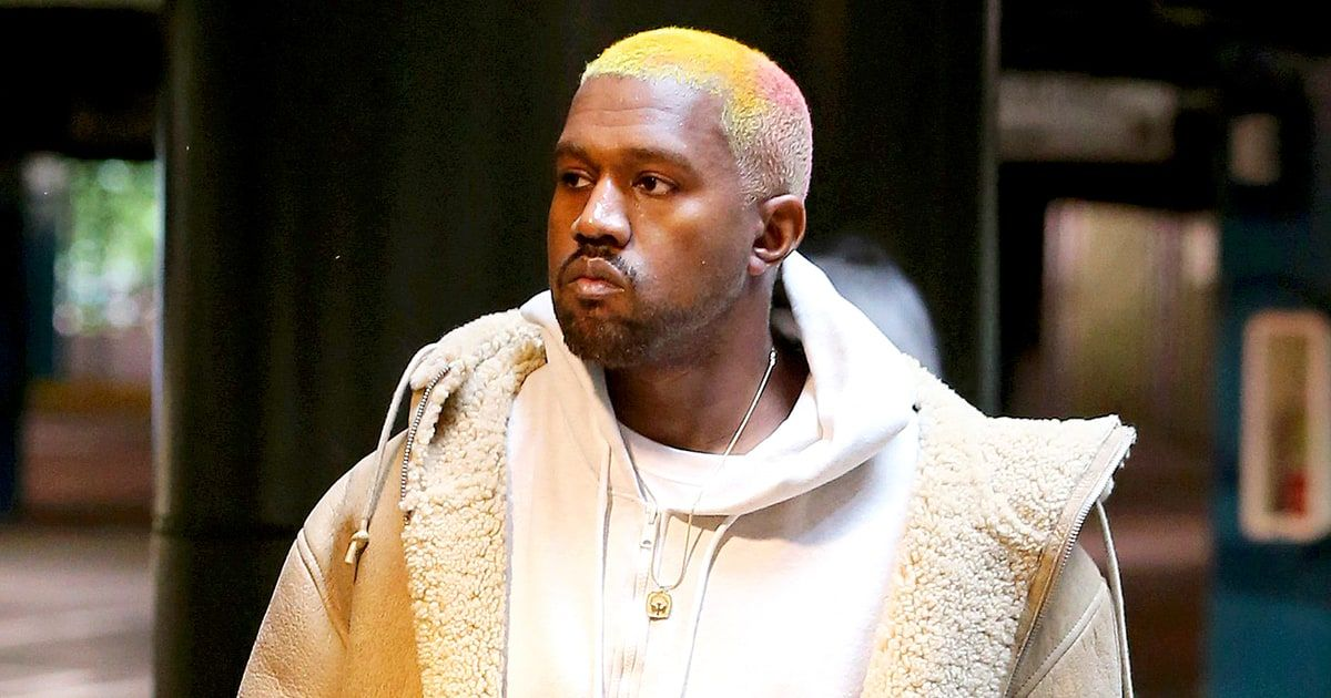 Kanye West Adds A Spray Of Pink To His Blond Hair Kanye