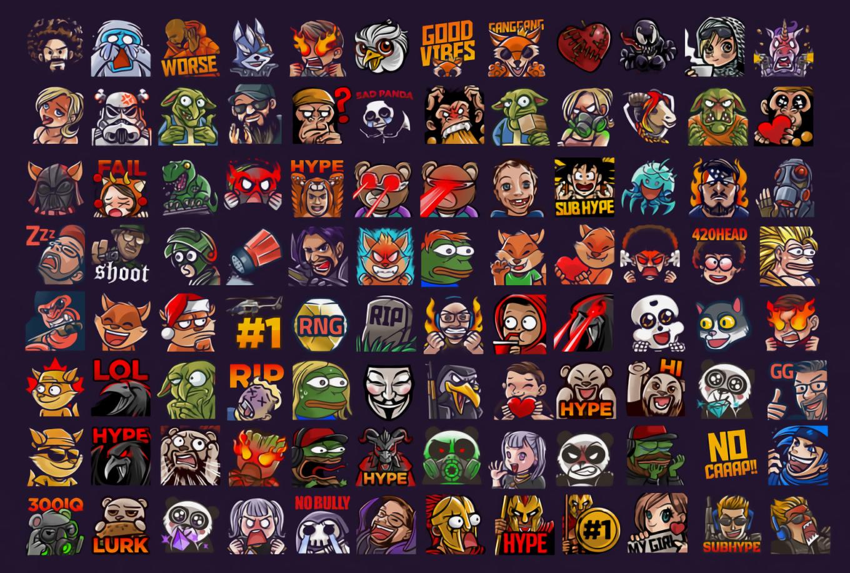 Kurvacadavra I Will Create Cool Custom Twitch Emotes Or Sub Badges For 15 On Fiverr Com Twitch Cool Stuff Kappa Twitch
